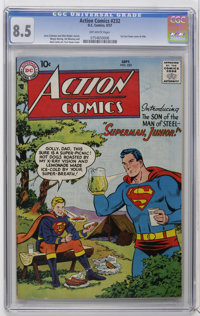 Action Comics #232 (DC, 1957) CGC VF+ 8.5 Off-white pages. Curt Swan's first cover for the title. Art by Wayne Boring, J...