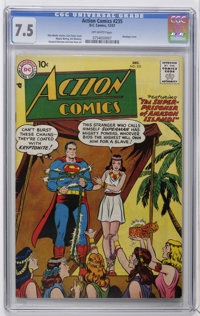 Action Comics #235 (DC, 1957) CGC VF- 7.5 Off-white pages. Curt Swan and Stan Kaye cover. Wayne Boring, Stan Kaye, Jim M...