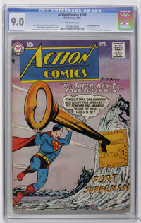 Action Comics #241 (DC, 1958) CGC VF/NM 9.0 Off-white pages. Batman appearance and the first appearance of the Fortress...