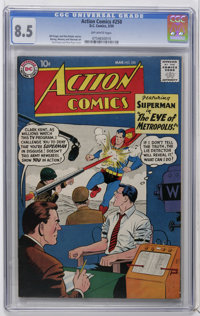 Action Comics #250 (DC, 1959) CGC VF+ 8.5 Off-white pages. Cover by Curt Swan and Stan Kaye. Art by Wayne Boring, Jim Mo...