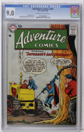 Silver Age (1956-1969):Superhero, Adventure Comics #249 (DC, 1958) CGC VF/NM 9.0 Off-white to white pages. Curt Swan and Stan Kaye cover and art. Overstreet 2...