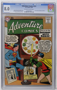 Adventure Comics #253 (DC, 1958) CGC VF 8.0 Off-white to white pages. First meeting of Superboy and Robin. Curt Swan cov...