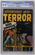 "Golden Age (1938-1955):Horror, Adventures Into Terror #9 Davis Crippen (""D"" Copy) pedigree (Atlas,1952) CGC VF+ 8.5 Off-white pages. Russ Heath cover. Joe..."