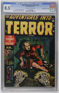 "Golden Age (1938-1955):Horror, Adventures Into Terror #13 Davis Crippen (""D"" Copy) pedigree(Atlas, 1952) CGC VF+ 8.5 Off-white to white pages. Bill Everet..."