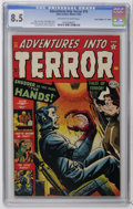"Golden Age (1938-1955):Horror, Adventures Into Terror #14 Davis Crippen (""D"" Copy) pedigree(Atlas, 1952) CGC VF+ 8.5 Off-white to white pages. Sol Brodsky..."
