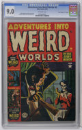"Golden Age (1938-1955):Horror, Adventures Into Weird Worlds #9 Davis Crippen (""D"" Copy) pedigree(Atlas, 1952) CGC VF/NM 9.0 Off-white pages. Carmine Infan..."