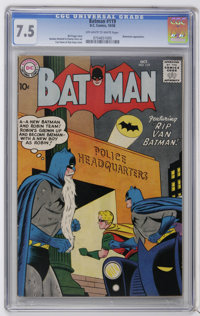 Batman #119 (DC, 1958) CGC VF- 7.5 Off-white to white pages. Batwoman appearance. Curt Swan and Stan Kaye cover. Sheldon...