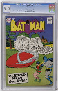 Batman #124 (DC, 1959) CGC VF/NM 9.0 Off-white to white pages. Curt Swan and Stan Kaye cover. Sheldon Moldoff and Charle...
