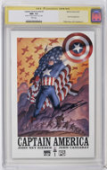Modern Age (1980-Present):Superhero, Captain America #1 CGC Signature Series (Marvel, 2002) CGC NM+ 9.6 White pages. Nick Fury appearance. John Cassaday cover an...