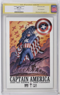 Captain America #1 CGC Signature Series (Marvel, 2002) CGC NM+ 9.6 White pages. Nick Fury appearance. John Cassaday cove...