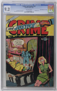 "Crime and Justice #12 Davis Crippen (""D"" Copy) pedigree (Charlton, 1953) CGC NM- 9.2 Off-white pages. Bondage..."