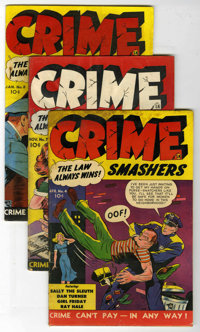 Crime Smashers Group (Ribage Publishing, 1951-53) Condition: Average VG-. Issues include #4, 7, 8. #9 (2 copies), 11, 13...