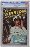 """Golden Age (1938-1955):War, Don Winslow of the Navy #67 Davis Crippen (""""D"""" Copy) pedigree(Fawcett, 1951) CGC VF/NM 9.0 Off-white pages. Photo cover. Ba..."""