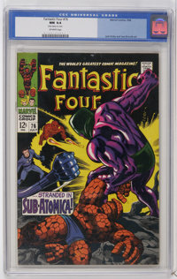 Fantastic Four #76 (Marvel, 1968) CGC NM 9.4 Off-white pages. The Silver Surfer, Galactus, and Psycho-Man appear. Jack K...