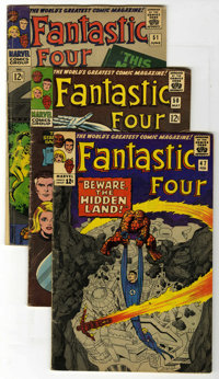 Fantastic Four Group (Marvel, 1966-67) Condition: Average VG-. Great Silver Age FF books with covers and art by Jack Kir...