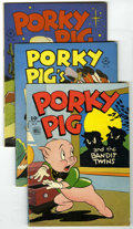 Golden Age (1938-1955):Cartoon Character, Four Color - Porky Pig Group (Dell, 1945-52) Condition: Average VG+. Includes issues #78, 112, 156, 182, 191, 226, 241, 260,... (Total: 21 Comic Books)