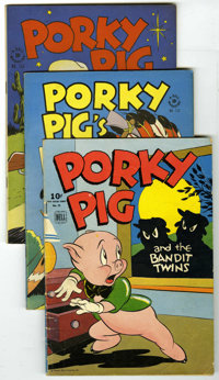 Four Color - Porky Pig Group (Dell, 1945-52) Condition: Average VG+. Includes issues #78, 112, 156, 182, 191, 226, 241...