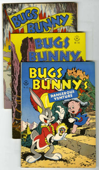 """Four Color - Bugs Bunny Group (Dell, 1946-48) Condition: Average FN/VF. Includes issues #123 (""""Bugs Bunny's Dangero..."""