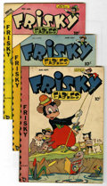 Golden Age (1938-1955):Funny Animal, Frisky Fables Group (Star Publications, 1948-49). Included are V4#6(FN), V5#2 (FN/VF), and V5#3 (FN-). Approximate Overstre... (Total:3 Comic Books)