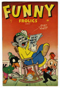 """Golden Age (1938-1955):Funny Animal, Funny Frolics #1 Davis Crippen (""""D"""" Copy) pedigree (Timely, 1945)Condition: FN/VF. Sharpy Fox, Puffy Pig, and Krazy Krow be..."""