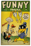 "Golden Age (1938-1955):Funny Animal, Funny Frolics #2 Davis Crippen (""D"" Copy) pedigree (Timely, 1945)Condition: VF. Overstreet 2006 VF 8.0 value = $74. From ..."
