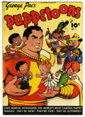 Golden Age (1938-1955):Humor, George Pal's Puppetoons #1 (Fawcett, 1945) Condition: GD/VG. Captain Marvel cover. Tape on the inside spine. Overstreet 2006...
