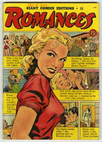 Giant Comics Editions #15 Romances (St. John, 1950) Condition: FN. Matt Baker cover. One of Overstreet's top 10 most val...