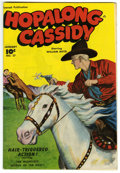 Golden Age (1938-1955):Western, Hopalong Cassidy #27 Mile High pedigree (Fawcett, 1948) Condition: NM. This Mile High issue has a brightly colored photo-rea...