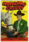 Golden Age (1938-1955):Western, Hopalong Cassidy #29 (Fawcett, 1949) Condition: NM. Vicious rogues of the untamed West abound in this Mile High copy with a ...