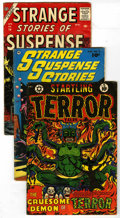 Golden Age (1938-1955):Horror, Miscellaneous Golden Age Horror Group (Various Publishers, 1952-57)Condition: Average VG. Includes Startling Terror Tales... (Total: 4Comic Books)