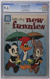 New Funnies File Copies CGC Group (Dell, 1960-62). Included is are CGC NM 9.4 graded copies of #275 and 287, and CGC NM+...