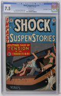 "Golden Age (1938-1955):Horror, Shock SuspenStories #11 Davis Crippen (""D"" Copy) pedigree (EC,1953) CGC VF- 7.5 Off-white pages. Johnny Craig cover. Craig,..."