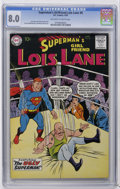 Silver Age (1956-1969):Superhero, Superman's Girl Friend Lois Lane #8 (DC, 1959) CGC VF 8.0 Off-white to white pages. Curt Swan and Stan Kaye cover. Art by Ku...
