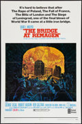 """Movie Posters:War, The Bridge at Remagen (United Artists, 1969). One Sheet (27"""" X 41"""")Style B. War.. ..."""