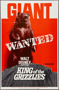 """King of the Grizzlies (Buena Vista, 1970). One Sheet (27"""" X 41""""). Family"""