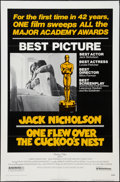 "Movie Posters:Academy Award Winners, One Flew Over the Cuckoo's Nest (United Artists, 1975). One Sheet (27"" X 41"") Academy Award Style. Drama.. ..."