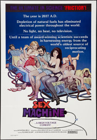 "Love and Energy (Seymour Borde, 1975). One Sheet (27"" X 41"") Also known as Sex Machine. Sexploitation"