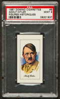"Non-Sport Cards:Singles (Post-1950), 1961 Domino Cigarettes ""Figures Historiques"" Adolf Hitler #8 PSA Mint 9. ..."