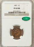 Proof Indian Cents: , 1897 1C PR63 Red and Brown NGC. CAC. NGC Census: (32/232). PCGSPopulation (32/162). Mintage: 1,938. Numismedia Wsl. Price ...
