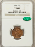 Proof Indian Cents: , 1902 1C PR64 Red and Brown NGC. CAC. NGC Census: (126/148). PCGSPopulation (106/87). Mintage: 2,018. Numismedia Wsl. Price...