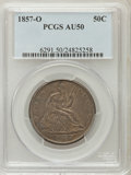Seated Half Dollars: , 1857-O 50C AU50 PCGS. PCGS Population (13/39). NGC Census: (2/34).Mintage: 818,000. Numismedia Wsl. Price for problem free...