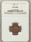 Proof Indian Cents: , 1887 1C PR63 Brown NGC. NGC Census: (56/268). PCGS Population(25/135). Mintage: 2,960. Numismedia Wsl. Price for problem f...