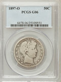 Barber Half Dollars: , 1897-O 50C Good 6 PCGS. PCGS Population (38/243). NGC Census:(23/108). Mintage: 632,000. Numismedia Wsl. Price for problem...