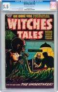 Golden Age (1938-1955):Horror, Witches Tales #24 (Harvey, 1954) CGC FN- 5.5 Off-white to whitepages....