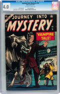Golden Age (1938-1955):Horror, Journey Into Mystery #16 (Marvel, 1954) CGC VG 4.0 Off-white towhite pages....