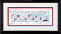 """Baseball Collectibles:Others, 1996 New York Yankees Charlie Brown """"Home Run"""" Multi SignedPrint...."""