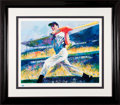 Baseball Collectibles:Others, Joe DiMaggio Signed Leroy Neiman Print. ...