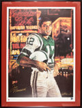 Football Collectibles:Others, Joe Namath Signed Stephen Holland Lithograph....