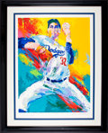 Baseball Collectibles:Others, Sandy Koufax Serigraph by LeRoy Neiman, Signed by Both - Artist's Proof AP 8/70. ...