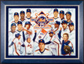 Baseball Collectibles:Others, 1986 New York Mets Team Signed Canvas Giclee....